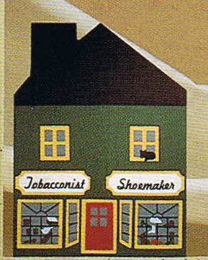 cats meow village 1984 series II - tobacconist shoemaker shop
